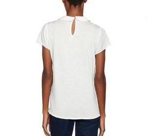 Maglia rotonda Short-Sleeved di modo del collo delle donne prima della camicia di polo su ordinazione delle donne irregolari