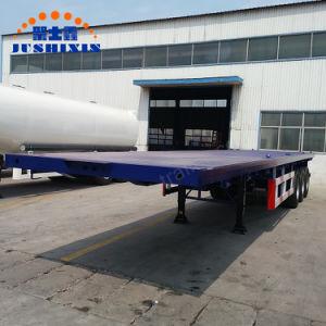 Behälter-Transport-Flachbett-halb Schlussteil China-20FT 40FT