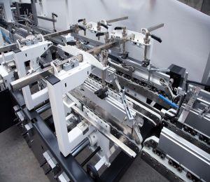 Rabattement automatique Machine d&#039;encollage boîte en carton<br/> (GK-650GS)