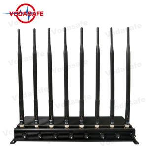 Draagbare Hoge Macht 8 van 8 Antenne GSM CDMA van Cellphone van het Kanaal 2g 3G 4G de RadioStoorzender van WiFi van het Signaal, de Stoorzender van de Telefoon van de Cel, Lojack 173MHz, GPS RC433/315MHz Stoorzender