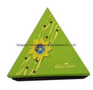 Forma de triángulo de cartón de papel rígido Embalaje Caja de regalo para el Chocolate