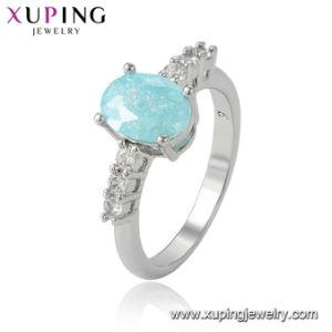 b86f3297a70e Los cristales de lujo Bisutería anillo nupcial del Partido Nuevo diseño de  joyería de color plateado