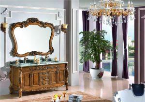 Double lavabo en marbre commerciale du bassin du haut luxe classique salle de bains moderne en bois de la vanité Cabinet (OT1602)