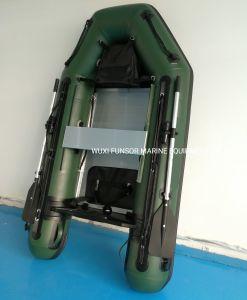 0.9Mm ПВХ надувные рыболовное судно в армии зеленый цвет алюминия Transom