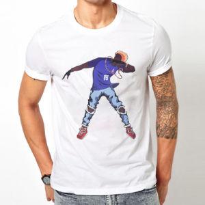 La impresión personalizada de muestra de apoyo al por mayor Camiseta de manga corta de algodón 100% de los hombres T-Shirt