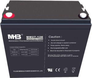 12V27Ah batería de plomo ácido libre de mantenimiento de UPS/ sistema de seguridad