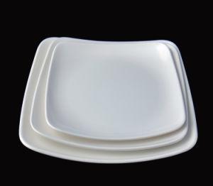 Nouvelle conception de la mélamine plaque carrée pour la vente