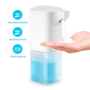 Smart Hotel infrarrojos automático del sensor de cuarto de baño de desinfección de manos libres portátil de la espuma de jabón