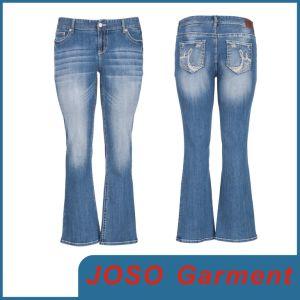 La mujer de mediana elevación Boot-Cut Jeans (JC1099)