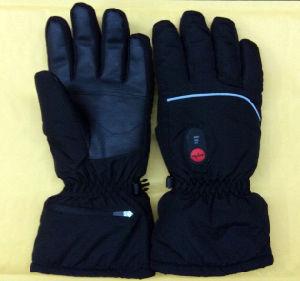 b1716c2e28202 Le sauveur de l'hiver chauffé Gant de ski pour Sking, sportives de plein  air, chauffage électrique Gants Gant de neige, long doigt de gant en cuir,  ...