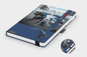 Ordem personalizada Notebook com faixa elástica, Notebook Lanybook