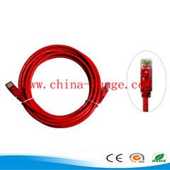 4 pares 24awg UTP CAT6 Cable de conexión con la cruz