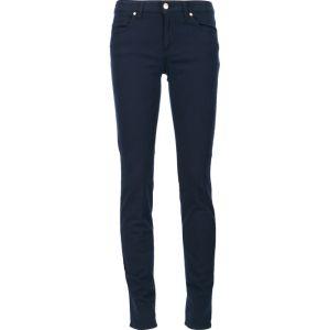 Denim scarno dei jeans di stirata blu signore/delle donne con cinque caselle (P.E. 439 dei pantaloni)