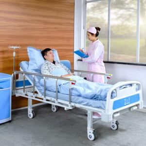 Mayorista de A2K 2 Gira ajustable Manual Metal plegable cama médica hospitalaria para pacientes con la FDA y CE
