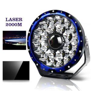 12V 24V Haz de puntos láser 2000m 7'' 8,5'' 9inch Offroad Luz de conducción LED láser para coche 4X4
