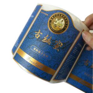Imprimé personnalisé Feuille d'or des étiquettes autocollantes d'estampage à chaud