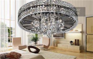 Pendente de aço inoxidável Luxo Iluminação lustres de cristal lustre de teto Om8916