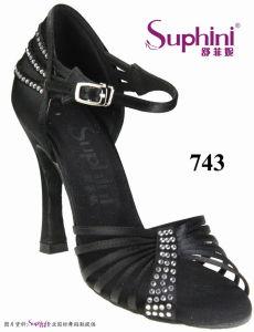 Suphini 2017 Venta caliente Mujer diseñó el logotipo del Cliente aceptada de zapatos de baile Zapatos de Baile latino