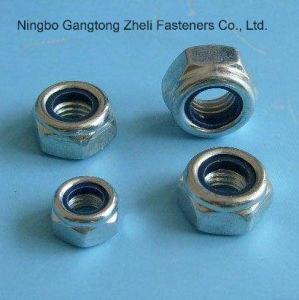 Écrous de blocage de nylon de l'acier inoxydable DIN985 de solides solubles 304