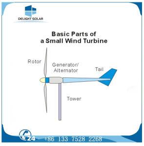 Turbine-Generatorsystem 5kw des Wind-2kw/5kw WegRasterfeld horizontale Mittellinien-Windmühle