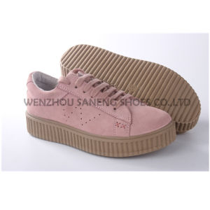 Hot Sale Chaussures femmes / cuir PU-65007 chaussures d'injection (SNC)