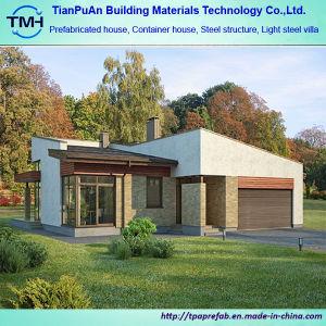 Moderner Entwurfs-Licht-Stahllandhaus-Haus mit Garage