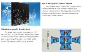 Наружные защитные элементы модуля аренды энергосберегающая видео Full HD TV ЖК-дисплей P5