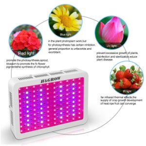 H&crecer 1000W de luz LED de crecer 3 chips