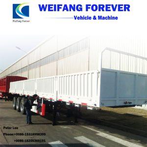 永久にWeifangの三車軸側面の側板か半塀の貨物トラックのトレーラー