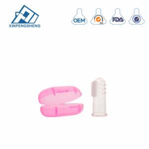 Dedo de Silicone completa escova com escova de dentes do bebé de caso