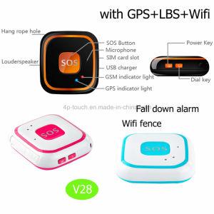개인적인 추적자에 의하여를 가진 경보 V28 아래로 넘어지는 GPS가 Sos에 의하여 단추를 끼운다