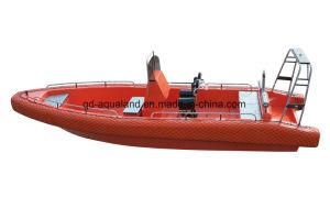 Aqualand 26feet 8m Systeem van de Buis van Sponson van het Stootkussen van het Schuim van 14persons EVA het Stevige Non-Air Gevulde/Patrouille van de Redding van de Glasvezel de Stijve Opblaasbare/Boot van de Motor van de Rib de Militaire (rib800)