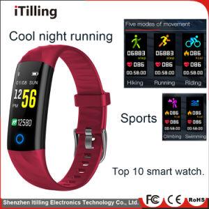 Fitness moda Pulsera Reloj inteligente con Bluetooth seguimiento deportivo Impermeable IP68 fresco de la noche, correr, nadar en el agua, senderismo, montar a caballo, escalada