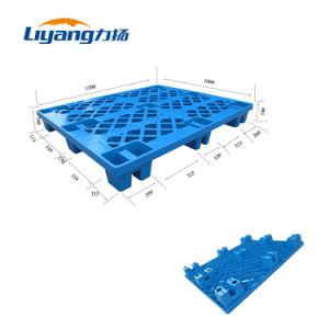 Luz de aço reforçado o dever de HDPE Euro palete de plástico para o trânsito