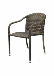 アルミニウムフレームの屋外の藤の椅子(BP-C117)