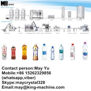 Sprankelende het Vullen van het Flessenspoelen van de Drank Het Afdekken Machine