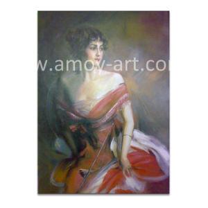 Signora classica pitture a olio di bellezza su tela di canapa per la decorazione della parete