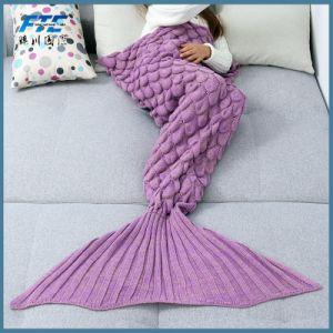 柔らかいハンドメイドの人魚のテール羊毛の総括的な寝袋