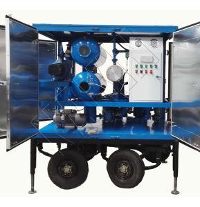 Purificador de aceite del transformador de vacío con el sistema de regeneración