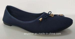 La comodidad de la moda nueva chica plana calzado zapatos al por mayor para las mujeres (735)