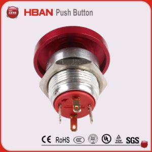 22мм Контакт красный гриб нормальной открыть нажатием одной кнопки
