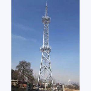 4脚の角度の鋼鉄通信塔