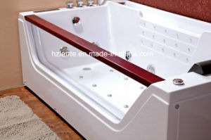Bañera de hidromasaje de masaje acrílico con almohada cómoda (TLP-675)