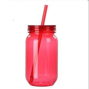 単一の壁のわらのプラスチック飲料のタンブラーのマグが付いているアクリルの飲料のマグ