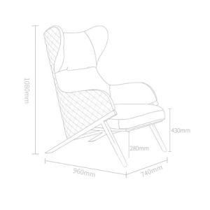 Último projeto de alta contrapressão espreguiçadeira para Sala de mobiliário (LT-03)
