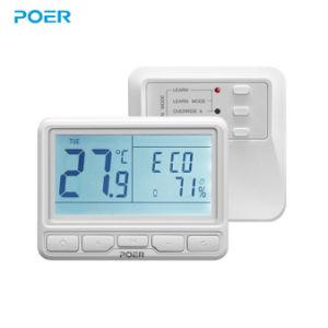 868MHz inalámbrico programable por el controlador de temperatura termostato ambiente Thermoregulator para caldera de gas