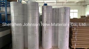 Mejor oferta de la fábrica de papel sintético nacarado brillante blanco autoadhesivo PP