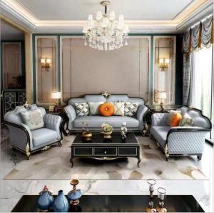 Itália salão clássico Hotel Corner sofá de couro para sala de estar móveis domésticos HB004