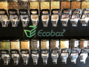 Bonbons de gros Ecobox /gravité Bacs distributeurs d'aliments en vrac