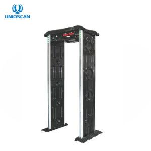 6 zonas del marco de puerta resistente al agua el detector de metales con materiales ABS